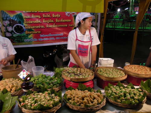 Vendor at Food Festival in Chiang Mai Thailand