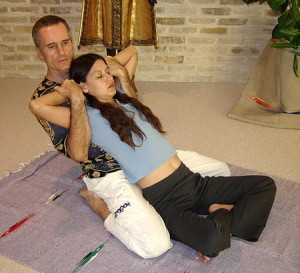 Thai Massage back traction