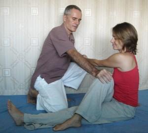 Thai Massage Sitting Spinal Twist