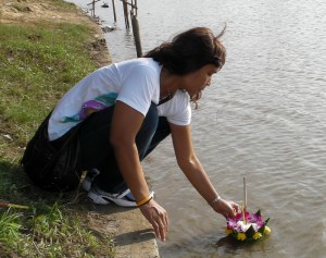 Floats are placed in the River