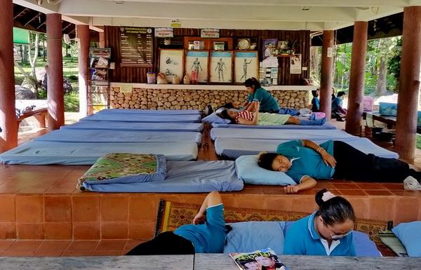 typical Thai Massage shop setup