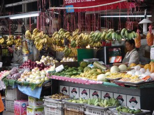 Produce market in Chiang Mai Thailand