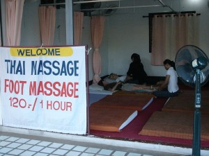 Thai Massage is everywhere in Chiang Mai