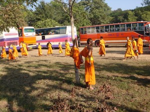 Monks Arrive From Hundreds of Temples