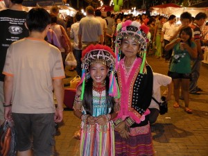 Dancers at Sunday Market, Chiang Mai, Thailand