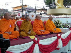 The most respected monks lead the ceremony