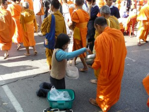 Monks are highly respected by everyone
