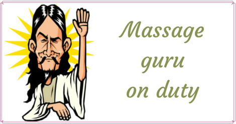 massage guru cartoon
