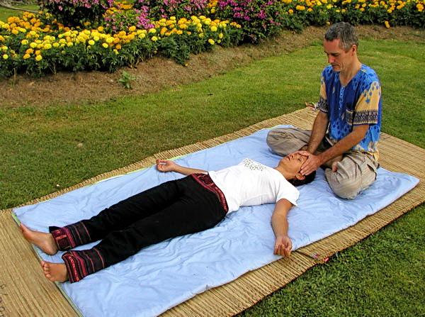 Thai massage in the park