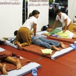 Open air Thai massage shop