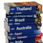 A stack of travel guides