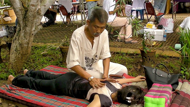 Thai Massage in public