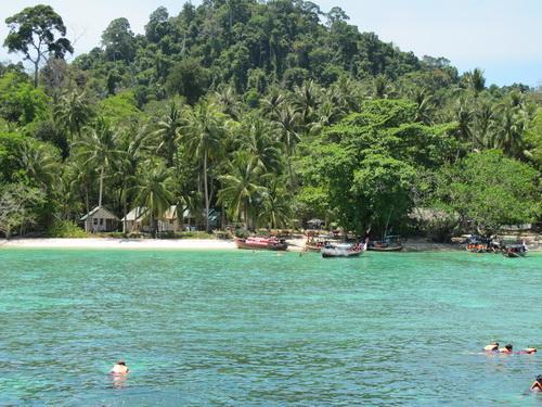Idyllic beach on Trang island