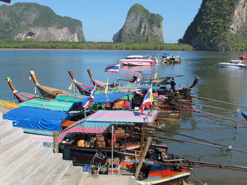 long tail boats in Trang province