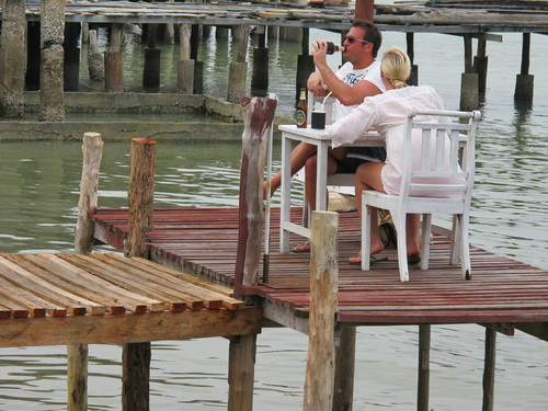 Lanta Old Town restaurant on stilts
