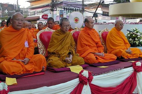 Thai monks at a major ceremony