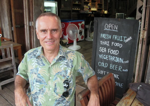 The author in Lanta Old Town restaurant