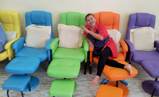 Colorful Massage Chairs