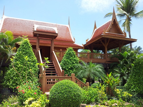 Fancy resort bungalow in Thailand