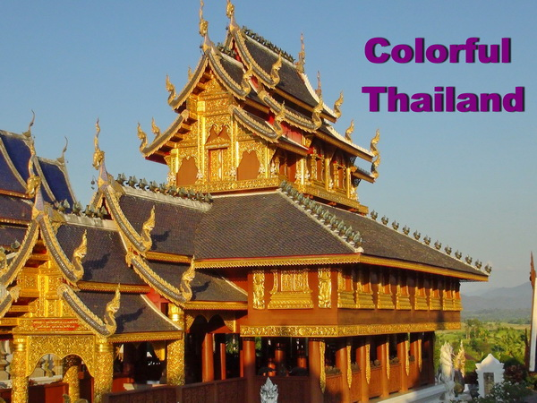 colorful thai temple