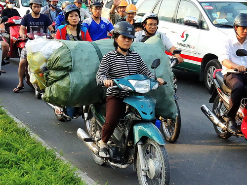 bike with heavy load