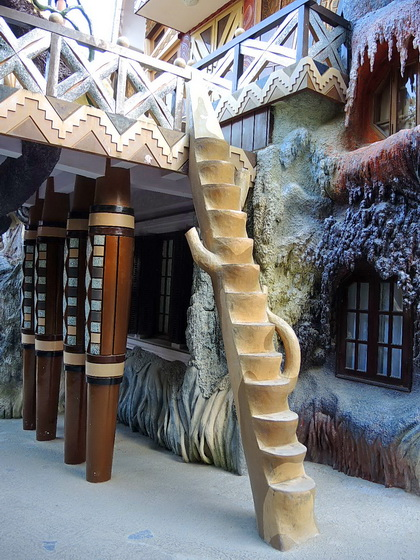tree trunk stair case