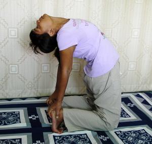 Yoga back stretch