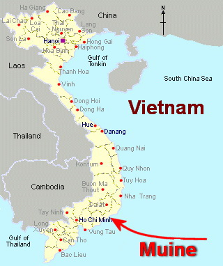 Map of Muine Vietnam