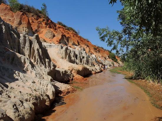 creek trail in Muine Vietnam