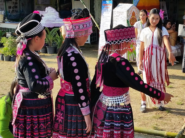 Hmong and Karen hill tribe girls in Thailand