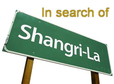 Road sign to Shangri-La