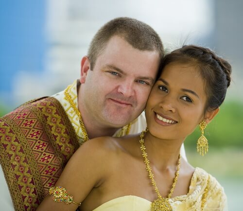 Thai-western couple