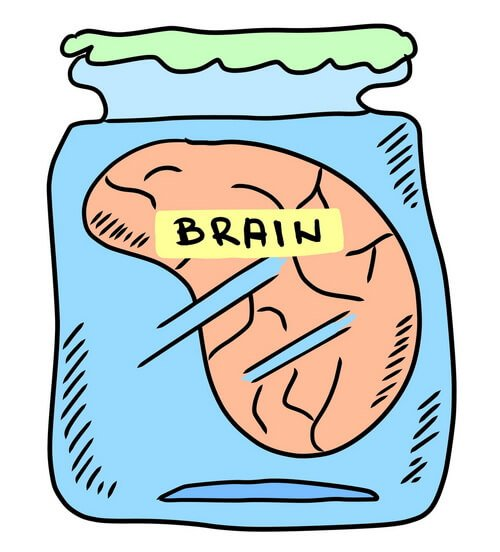 brain caricature