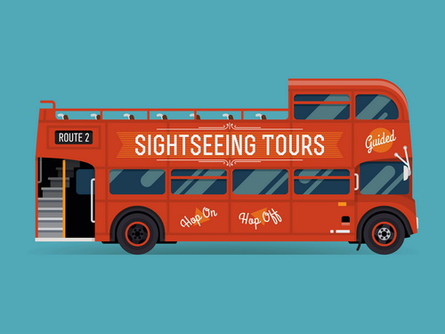 sightseeing tour bus
