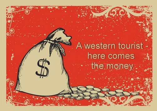 western tourists in thailand must be rich