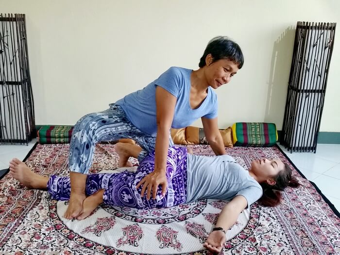 Thai Massage twist stretch